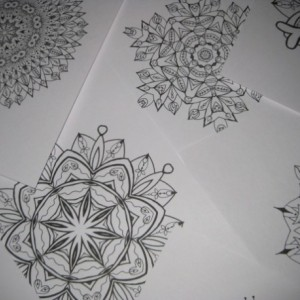 Mandala Kaleidoscope Coloring Pages Cd -  Vol. 1 - Free Shipping