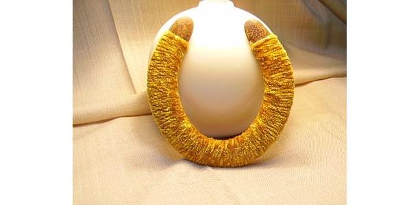 Golden velour Horseshoe