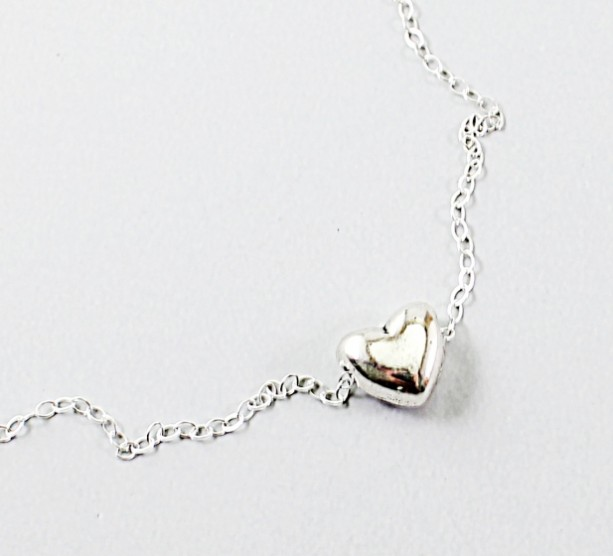 Heart necklace, sterling silver jewelry, love jewelry, for Valentines Day