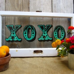 XOXO Vintage Window Hand-painted Sign
