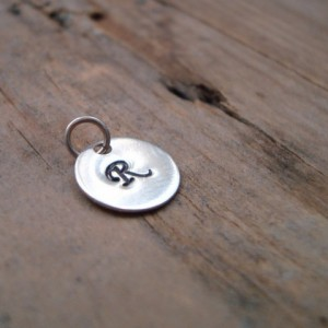 Add On Personalized Initial Silver Charm
