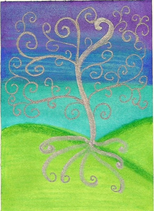 Midnight Tree of Life ACEO