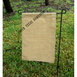 2 pack of Burlap Garden Flag Blanks ready to decorate wiht Vinyl, Paint or Embroidery