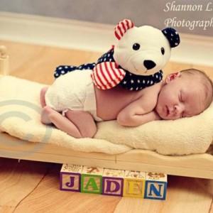 Small Chic Newborn Baby Photo Prop Bed