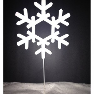 Set of 3 Snowflake Yard Stakes, Yard Decoration, Christmas Outdoor Deocration, Outdoor Holiday Decoration