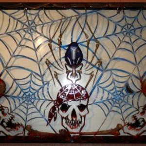 Skull & Spider Plasma Cut Wall Art