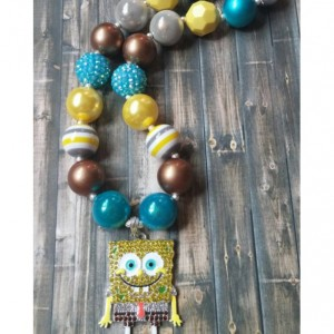 SpongeBob Squarepants Inspired Rhinestone Chunky Necklace