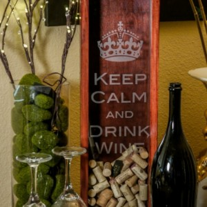 Unique Handmade Keep Calm And Drink Wine Box