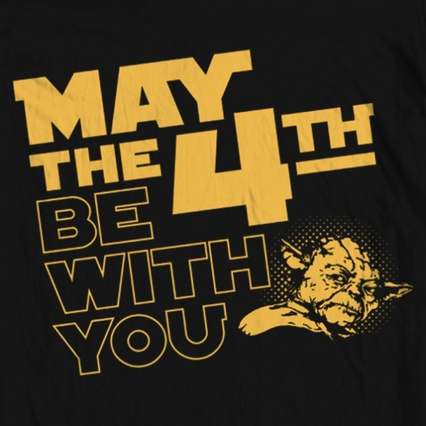 "May The 4th Be With You Clip Art: Men's Star Wars ""May The 4th"" Tee"