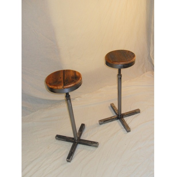 Cool Handmade Reclaimed Wood Steel Bar Stool Lamtechconsult Wood Chair Design Ideas Lamtechconsultcom