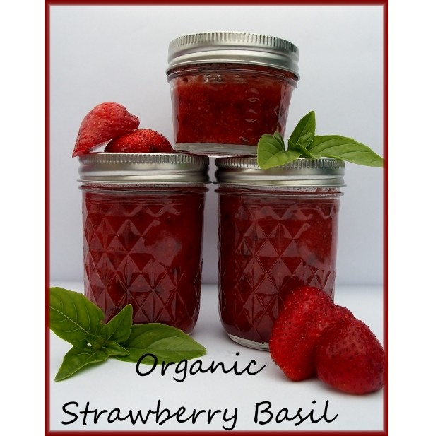 Organic Strawberry Basil Preserves
