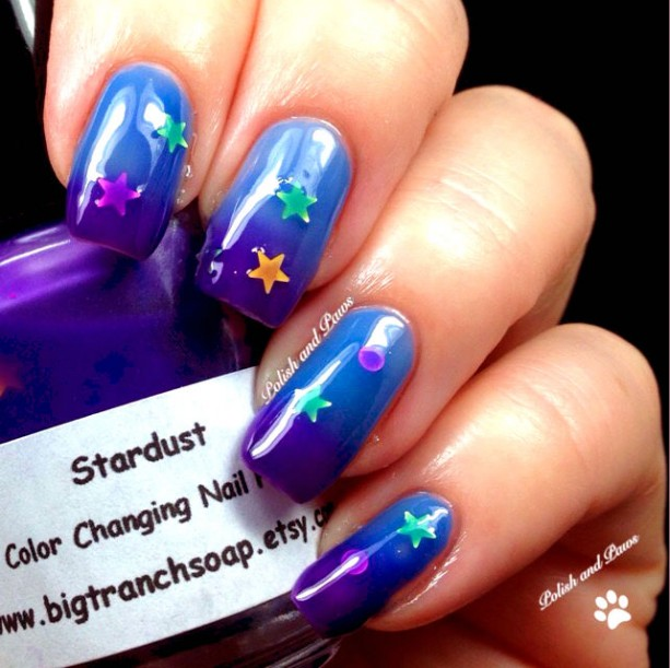 Color Changing Thermal Nail Polish - Blue/Purple with Holographic ...