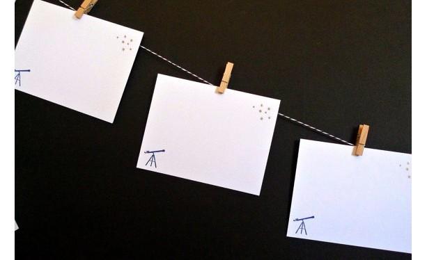Stargazer Gocco Printed Notecards (5 pack)