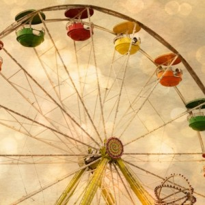 State Fair - Ferris Wheel -  8 x 12 Fine Art Print - Summer Fun