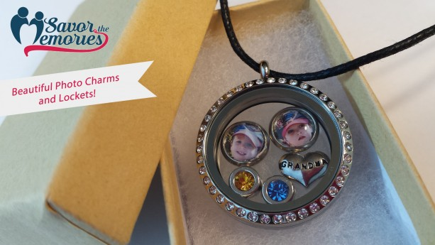 2 Beautiful Photo Charms for Floating Locket
