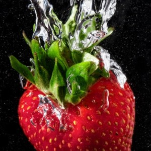 Strawberry Splash - 8 x 12 Fine Art Print - Kitchen Decor