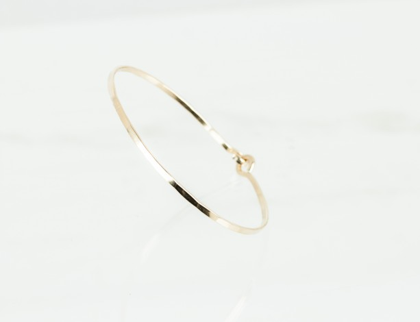 14k Gold Filled Bangle Bracelet, Simple Bangle, Gold Bangle