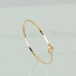 Textured 2 mm Gold Fill Bangle Bracelet