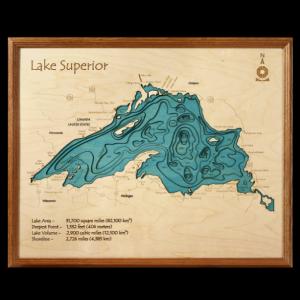 3D Lake Art 16x20