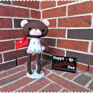 "Valentine's Sweetheart Bear Birdie, 13"" plushie, teddy bear, toy, stuffed"