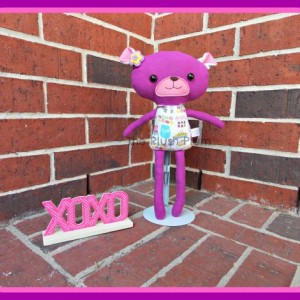 "Valentine's Sweetheart Bear Sugar, 13"" plushie, teddy bear, toy, stuffed"