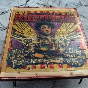 """Tattooed Lady"" Large Coffee Table."
