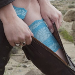 Turquoise Lace Boot Cuffs
