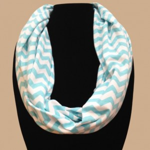 Teal Chevron Infinity Scarf