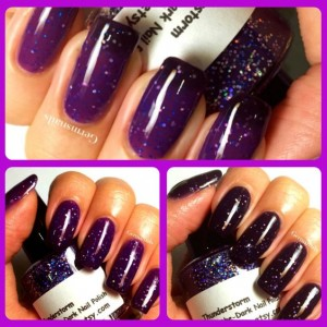 Color Changing Nail Polish - Purple to Black