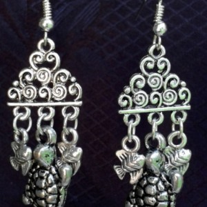 Out to Sea Tibetan Silver Earrings *30% off* (Was $20)