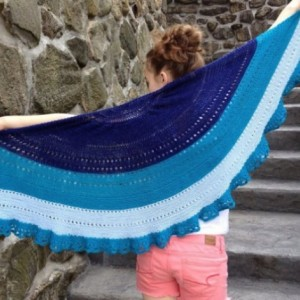 Trieste Knitted Summer Weight Shawl