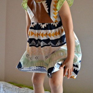 Geometric Pleather Geranium Dress, 4T