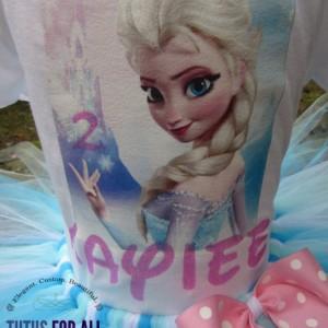 Elsa from Frozen birthday tutu set