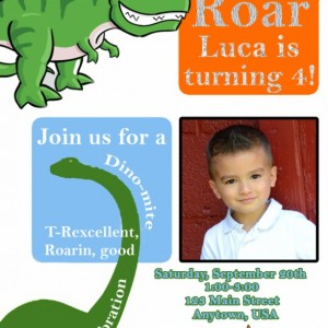 Dinosaur Birthday Invitation, Invitations, Dinosaurs, Birthday