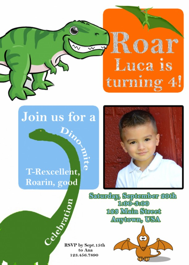 Dinosaur Birthday Invitation Invitations Dinosaurs