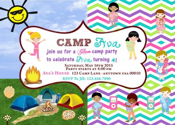 Camping Invitation, Camping, Invitations, Birthday, Glamping