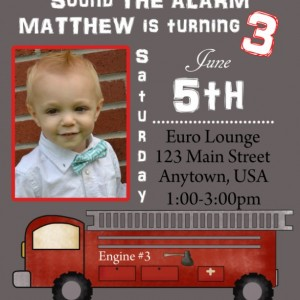 Firetruck Birthday Invitation, Invitations, Firetrucks, Birthday