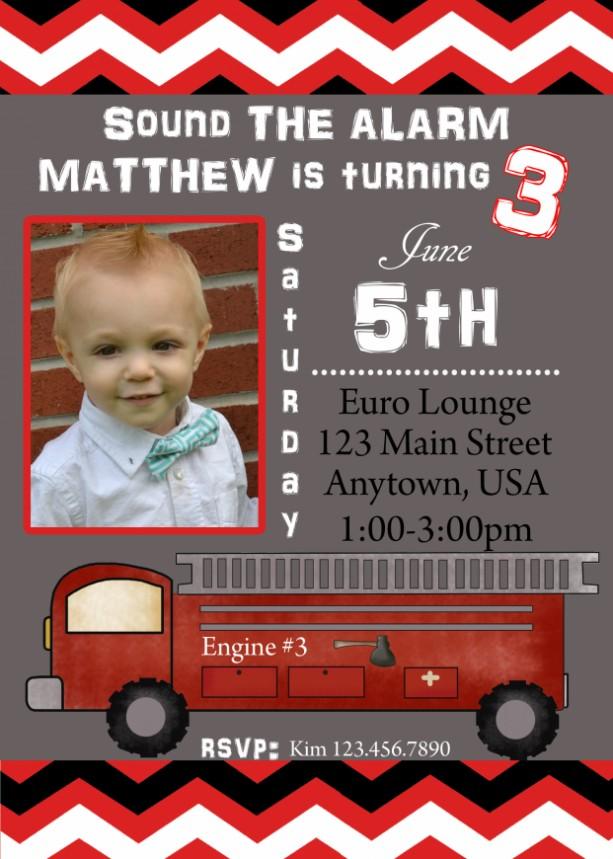 Firetruck Birthday Invitation, Invitations, Firetrucks, Birthday