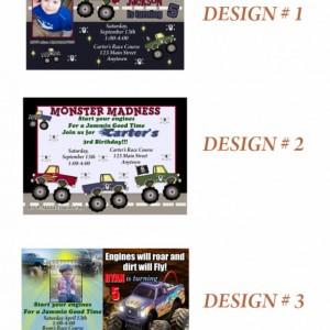 Monster Truck Invitation, Birthday, Invitations, Monster Trucks, Cars