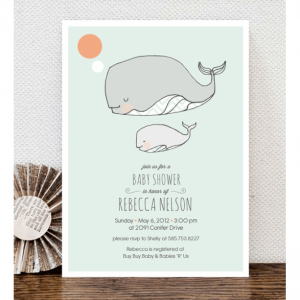 Little Squirt Baby Shower Invitation - Custom Print Ready Shower Invitation