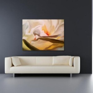 White Rose Original Oil Painting