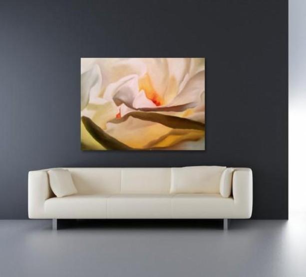 White Rose Original Oil Painting