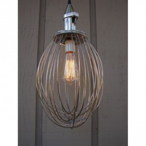 Industrial Pendant Light Upcycled Whisk