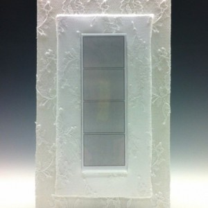 Classic Wedding Satin and Lace Photo Booth Photo Frame