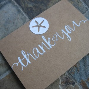 Beach Wedding/Shower/Party Thank you Cards