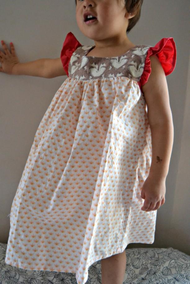 Fierce and Feminine Wolf Dress, 2-3T