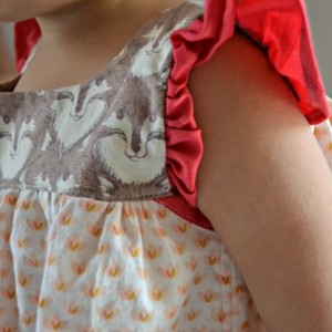 Fierce and Feminine Wolf Dress, 2-3T