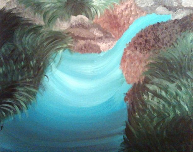 Blue Creek 16x20 canvas