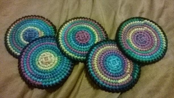 5 Rainbow Coasters