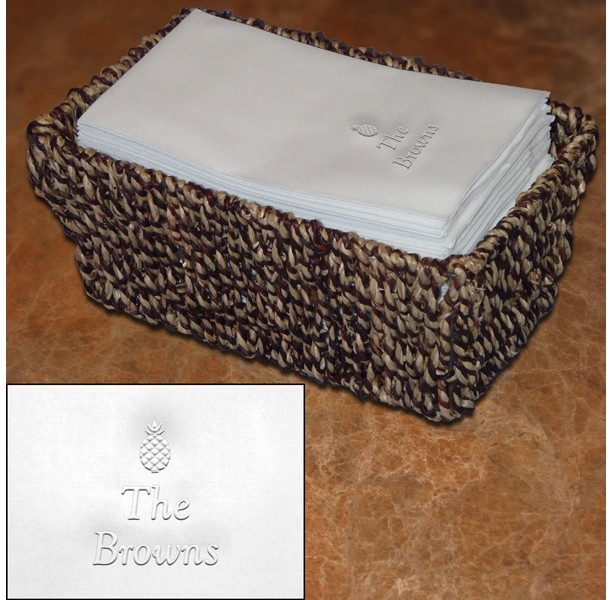 Hospitality Guest Towel Set (WRT201) with embossed pineapple motif
